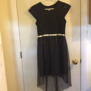 Black sparkly disco dress